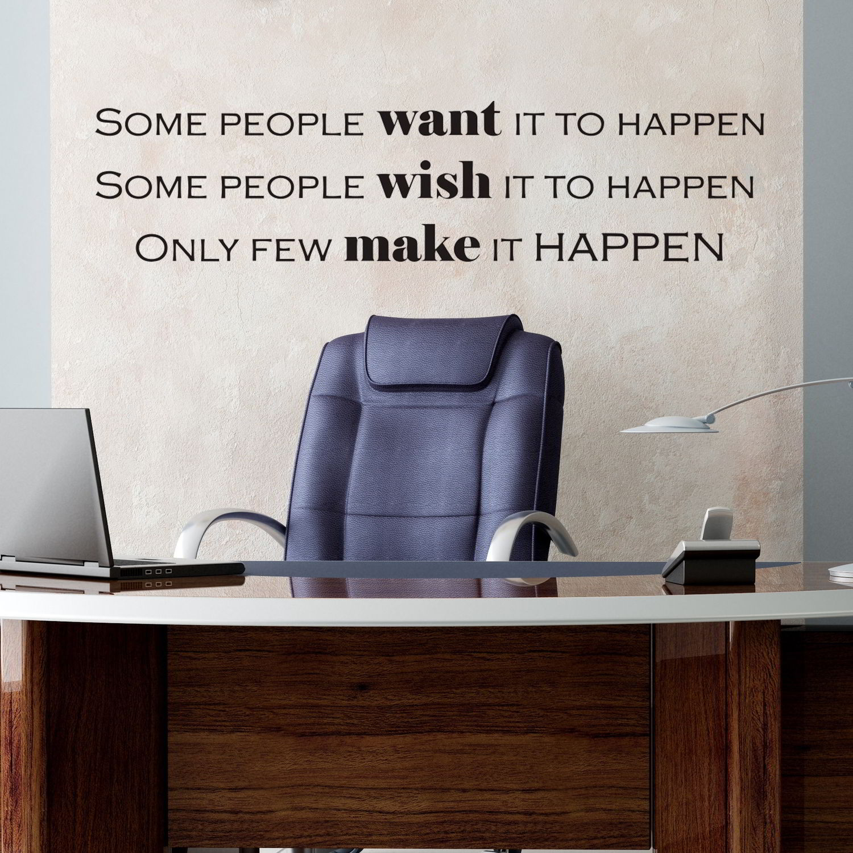 Wallsticker Want - Wish - Make it happen
