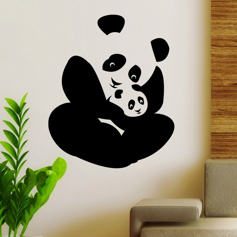 wallsticker panda pris 135 20 hungry pandas wall sticker red panda wall stickers
