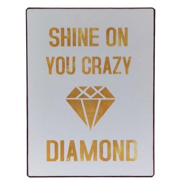 Køb Emaljeskilt Shine on you crazy Diamond