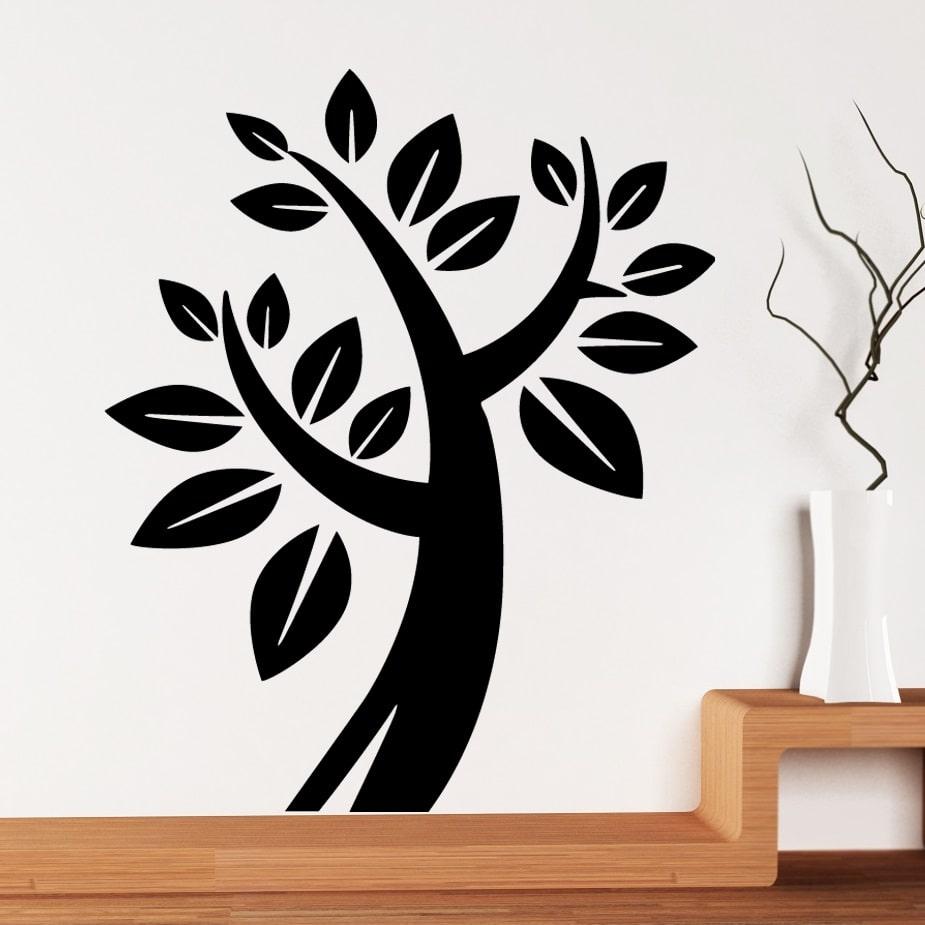 Wallsticker Kæmpe Træ med blade