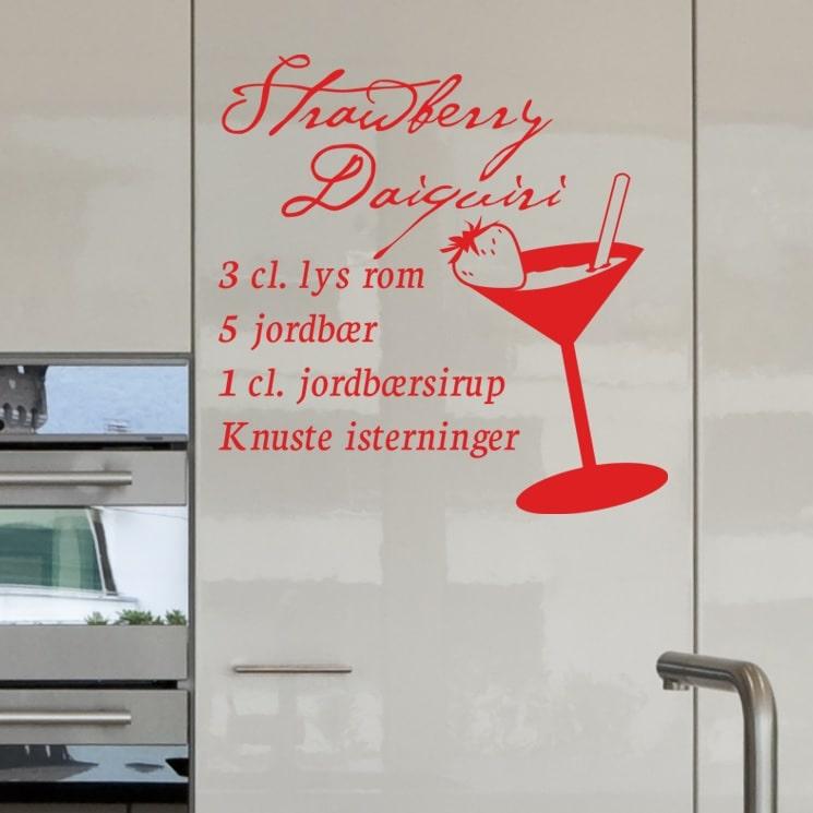 Strawberry Daquiri - Wallstickers til køkkenet - NiceWall.dk