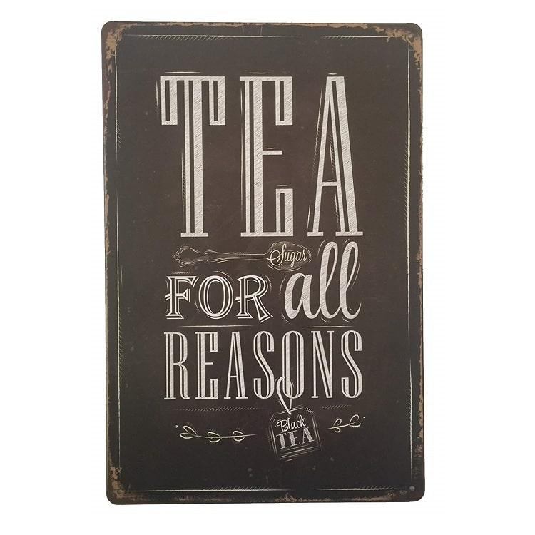 Køb Emaljeskilt Tea for all reasons