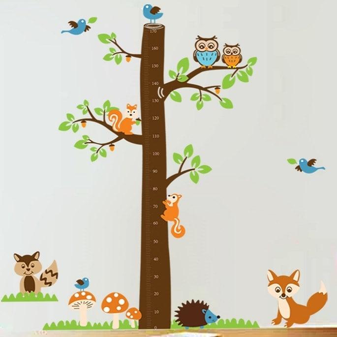 Image of   Wallsticker Træ med højdemåler