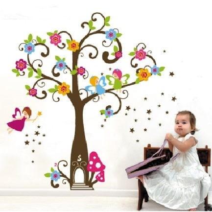 Flerfarvede Wallstickers til Børneværelset