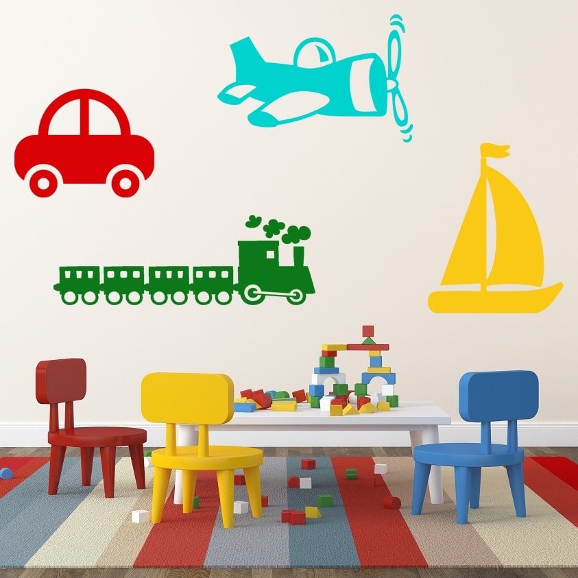 wallsticker transport tema pris 199 00 buy these popular transport wall stickers for your boys room