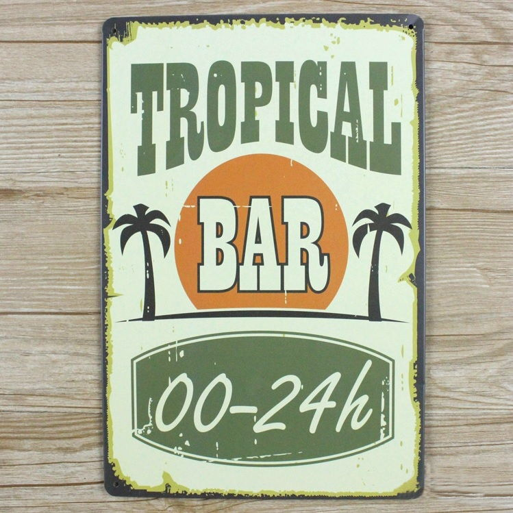 Image of   Emaljeskilt Tropical Bar