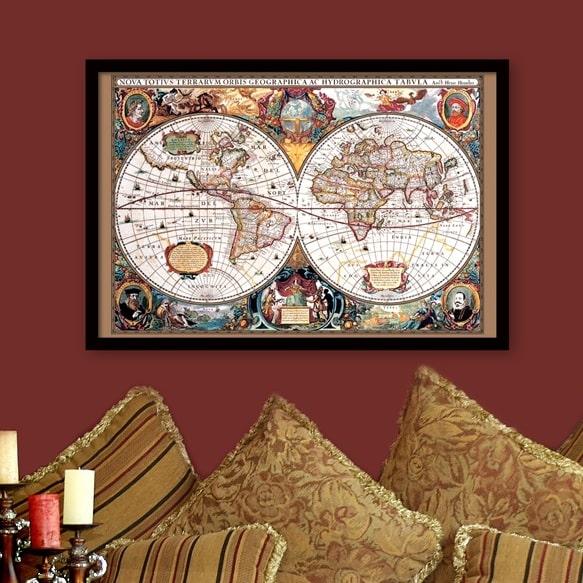 Image of   Plakat: Verdenskort fra 1630