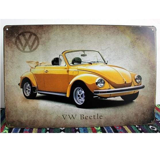 Emaljeskilt VW Beetle