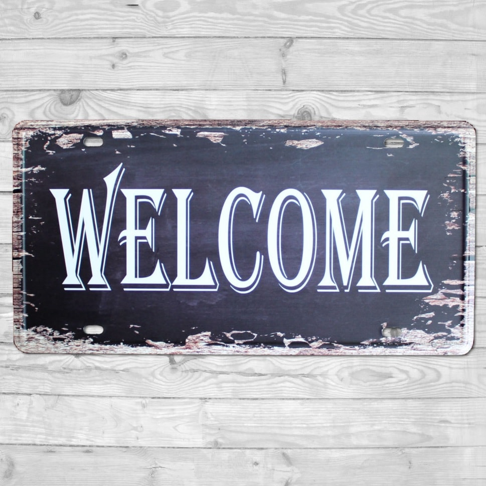 Image of   Emaljeskilt Welcome