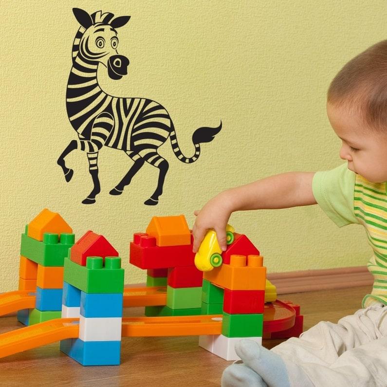 Wallsticker Zebra til Børneværelset